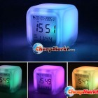 Changing Colors Alarm Clock with Thermometer