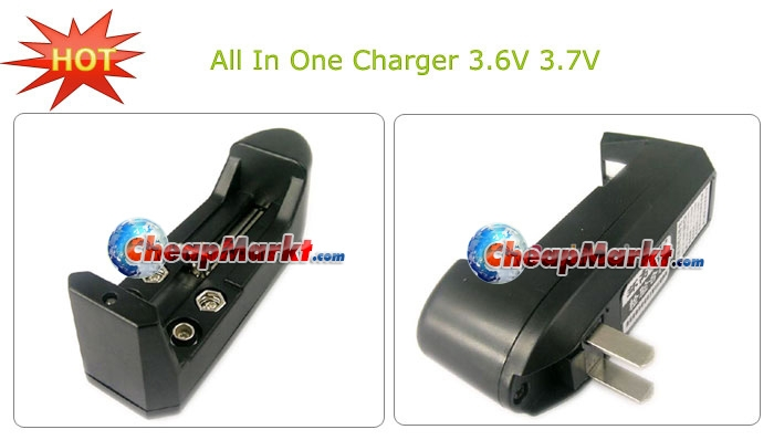 Charger All-in-One for D CR123A 18650 16340 14500 10440 9V Recharge Battery
