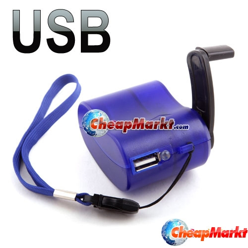USB Hand Power Dynamo Torch Charger Cellphone MP3 PDA