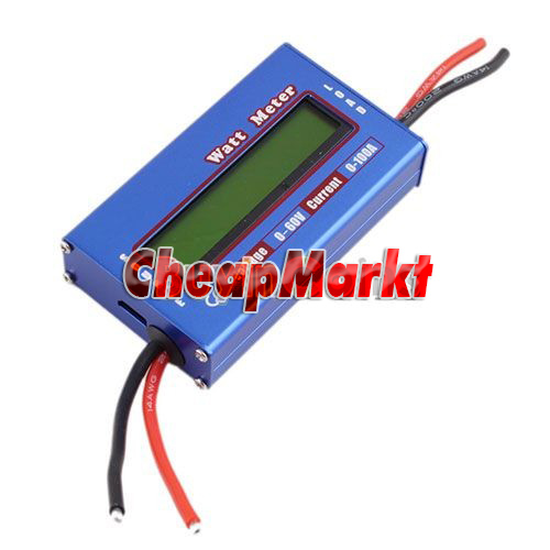 Watt Meter Inline: Digital 60V/100A Battery Balance LCD Voltage Power