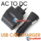 Car Charger USB Adapter+Wall AC to DC Car Converter