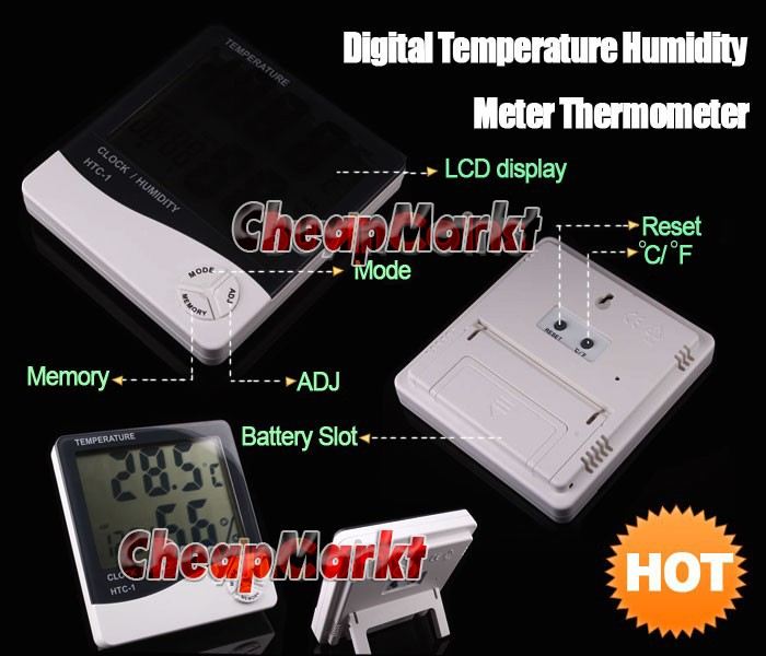 Digital Temperature Humidity Meter Thermometer