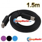 5FT 1.5M USB 2.0 Extend Extention Flat Cable A Male to A Female Adapter 150CM