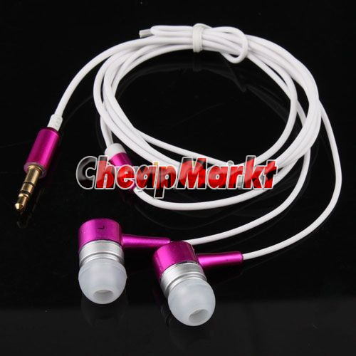 3.5mm Plug In Ear Earphone Headphone Metallic Earbuds 1.2m for iPhone iPad MP3