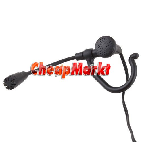 3.5mm Stereo Ear Hook Clip Headphone Headset Microphone for PC Computer Laptop