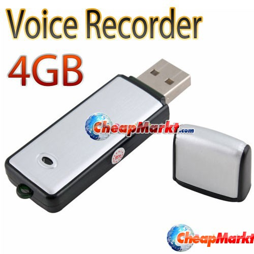 4GB Memory Stick Driveless USB Flash Drive Audio Voice Recorder Recording