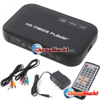 3D 1080P Media Player Full HD HDMI H.264 MPEG Real WMV MKV DivX VGA Out