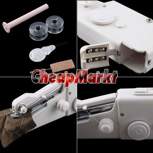 Home Travel Desk Table Portable Mini Hand-held Clothes Sewing Machine