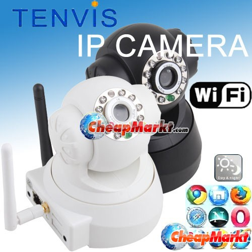 Wireless Wifi  IP Camera Audio Night Vision Security Webcam Tenvis CCTV