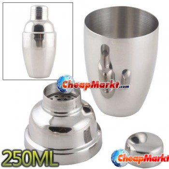 250ML Stainless Steel Cocktail Drink Martini Shaker Jigger Mixer Bar Sets