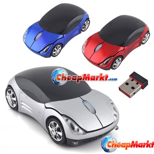 Stylish Durable Car Design Wireless USB Mouse for Laptop PC Notebook