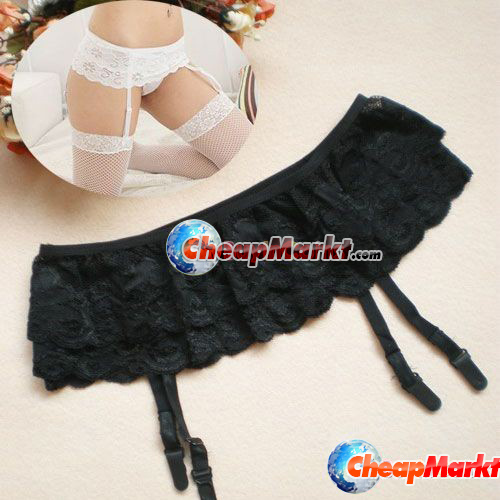 Sexy Lingerie 2 Layer Floral Lace Garter Belt Suspender Skirt For Stocking