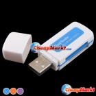 Fashion USB 2.0 All in 1 Memory Multi-Card Reader for SDHC MS SD TF Hot Blue