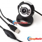 USB 6 LED 5M Clip WebCam Web Camera w/ Microphone MIC