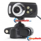 USB 3 LED 16M Clip WebCam Web Camera w/ Microphone MIC