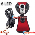 USB 2.0 6 LED 8 Mega Clip WebCam Web Camera w/ MIC Microphone for Laptop PC