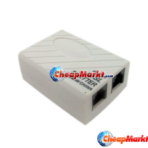 ADSL Modem Broadband Phone Line Filter Splitter