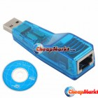 USB 2.0 10/100M Ethernet Network LAN Adapter RJ45 Network Card for Laptop PC