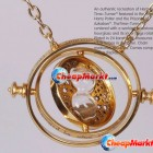 Time Turner Hermione Granger Rotating Spins Gold Hourglass Necklace