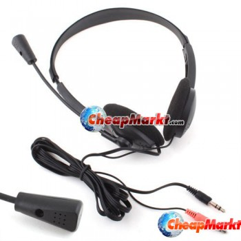 Earphone Headphone w/ Microphone MIC VOIP Headset Skype