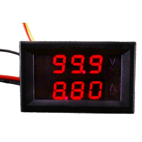 DC 0-100V 10A Dual Red LED Digital Voltmeter Ammeter Panel Amp Volt Gauge