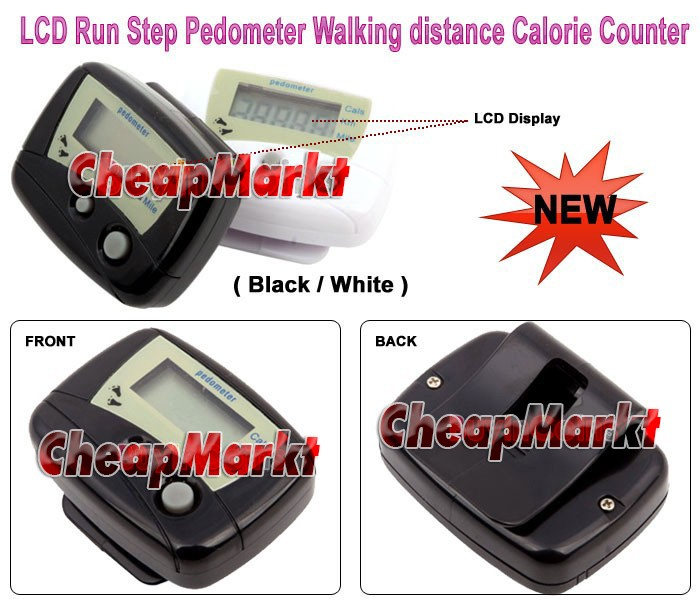 LCD Run Step Pedometer Walking Distance Calorie Counter