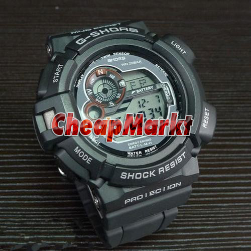 Fashion Military Pilot Army Style Silicone Men Outdoor Waterproof Sport Watch