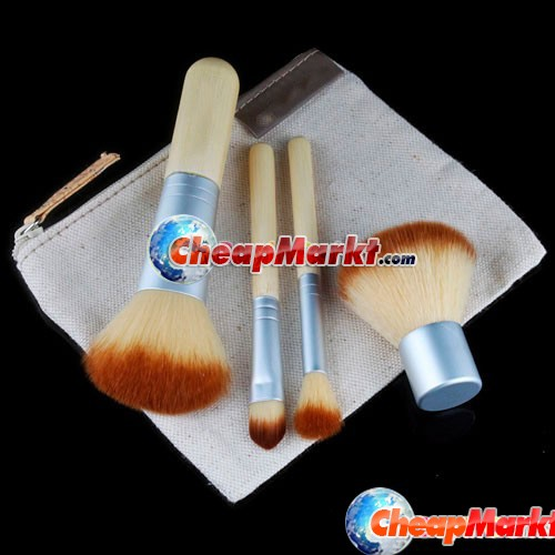 Bamboo Makeup Brushes, 4 pcs.