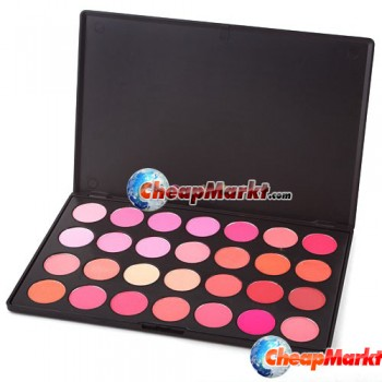 28 Color Makeup Cosmetic Blush Blusher Powder Palette
