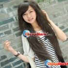 Party Long Corn Perm Fluffy Curly Hair Wigs Black