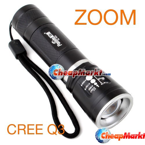 Zoom Focus 18650 CREE Q3 LED Flashlight Camping Torch