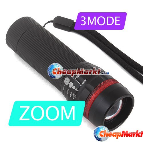 Zoom Focus 3 Mode AAA LED Flashlight Camping Light