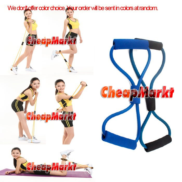 Resistance Bands Tube Workout Exercise For Yoga 8 Type