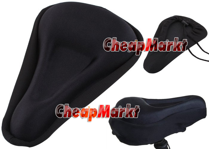 Bike MTB Cycling Bicycle Soft 3D Thick Silicone Seat Saddle Cover Cushion Pad