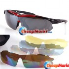 Cycling Riding Bicycle Bike Sun Glasses UV 400 Sports Eyewear Goggle 5 Lens