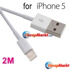 6FT 2M 8 Pin USB Data Sync Charger Cable fr iPhone 5 5th iPod Touch 5th Nano 7th