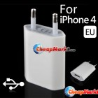 USB Wall Home Charger AC Adapter for Apple iPhone 4 4G 4S 4GS