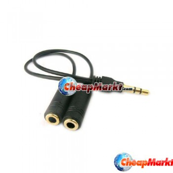 3.5mm Headphone Splitter Jack Cable for MP3 iPod Nano