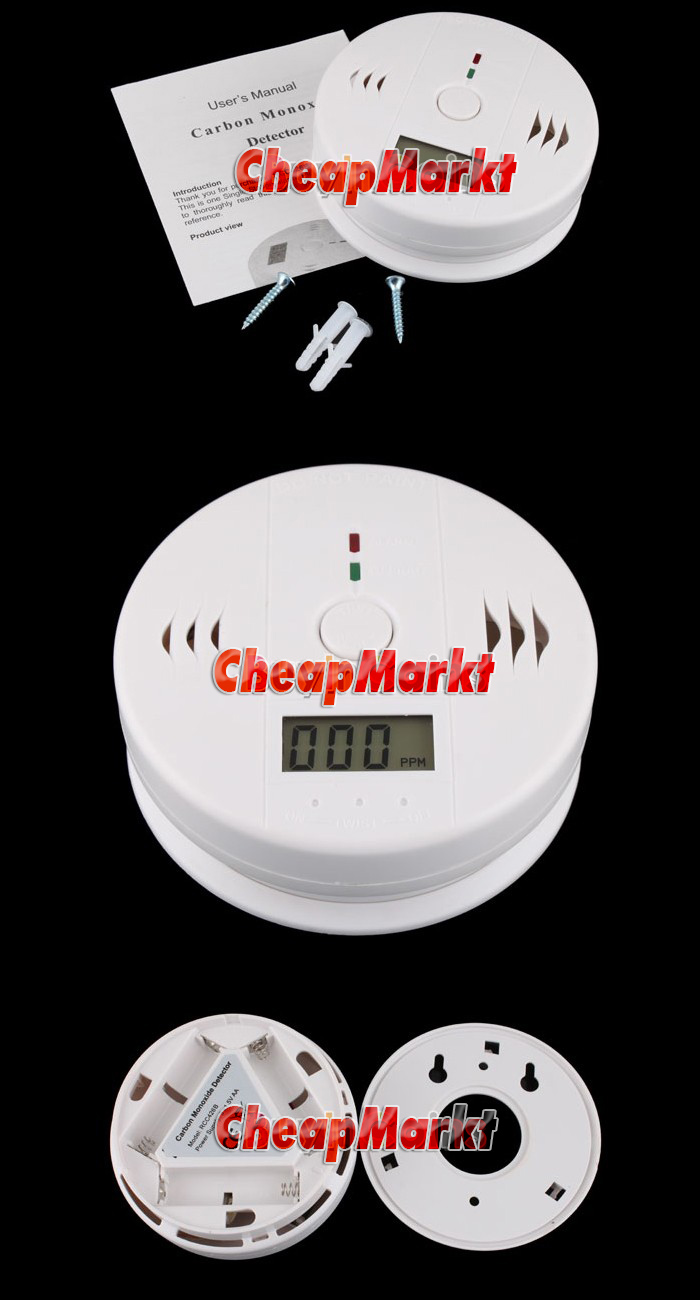 CO Carbon Monoxide Detector Poisoning Gas Sensor Alarm