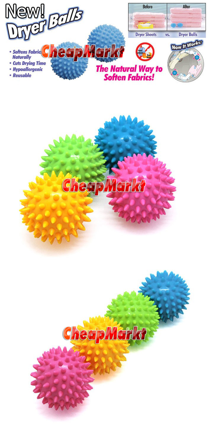 2 x No Chemicals Washing Laundry Dryer Ball Soften Cloth