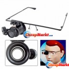 Watch Repair Magnifier 20X Glasses Type With LED Light