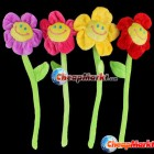 Cute Colorful Smile Sunflower Plush Curtain Clasps Tie Holders Home Decoration