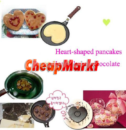 Outdoor Kitchen Special Non-stick Stainless Steel Fry Pan Love Heart Egg Pot