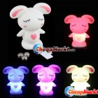 Lovely Cute Rascal Rabbit 7 Color Changing LED Lamp Night Ligh