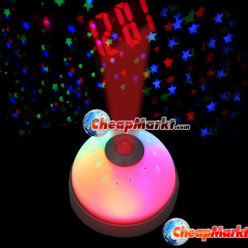 Magic LED Color-Change Projection Projector Alarm Clock
