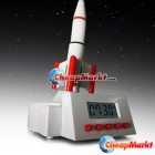 Snooze Light Digital Creative Flying Space Rocket Launching Table Alarm Clock