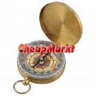 Pocket Brass Watch Style Ring KeyChain Camping Hiking Compass Navigation Outdoor