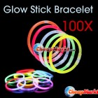 100 PCS Multi Color Glow Stick Light Bracelets Party Fun