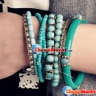 Bohemia Style Beads Multi-layer Wristband Bracelet Bangle