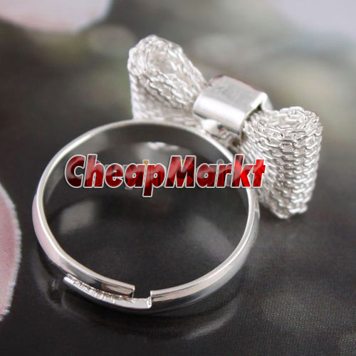 Butterfly Net Design Bow Personality Ring Size Free